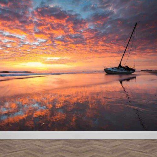 Fotobehang Kleurrijke zonsondergang