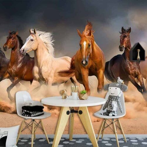Fotobehang Galopperende paarden 1