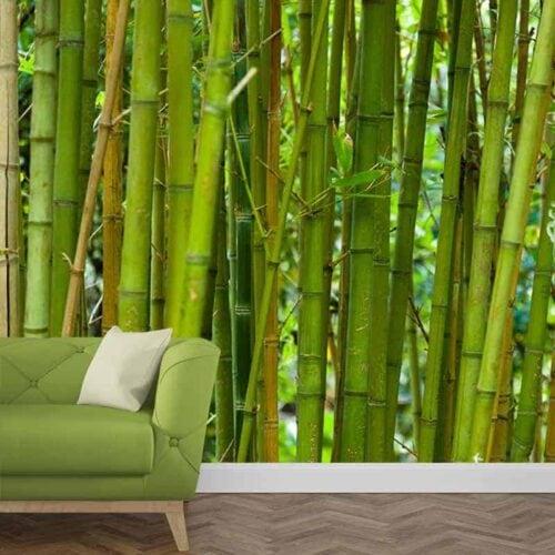 Fotobehang Groene bamboe 1