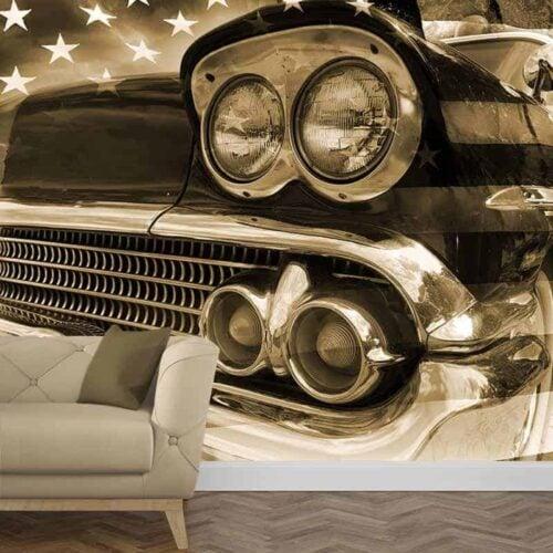 Fotobehang Vintage auto 1