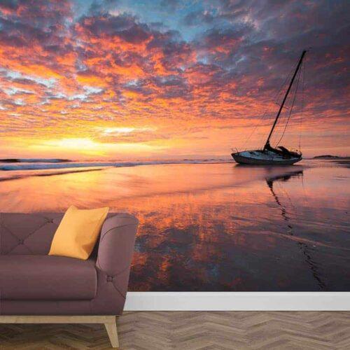 Fotobehang Kleurrijke zonsondergang 1