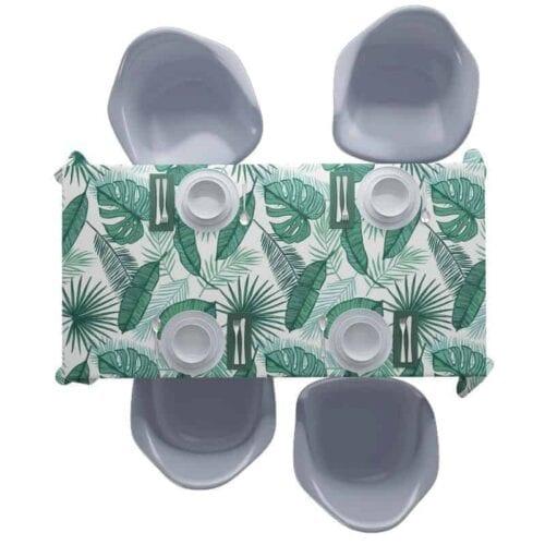 Tafelkleed tropische bladeren