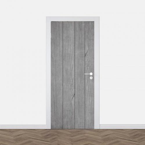 Deursticker Oude houten planken 3