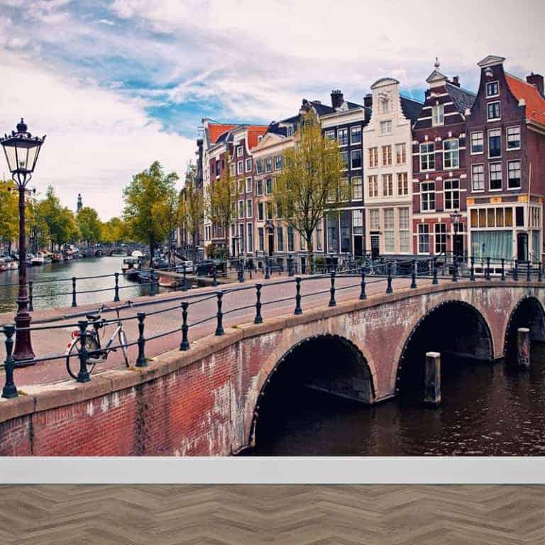 Fotobehang Amsterdamse grachten