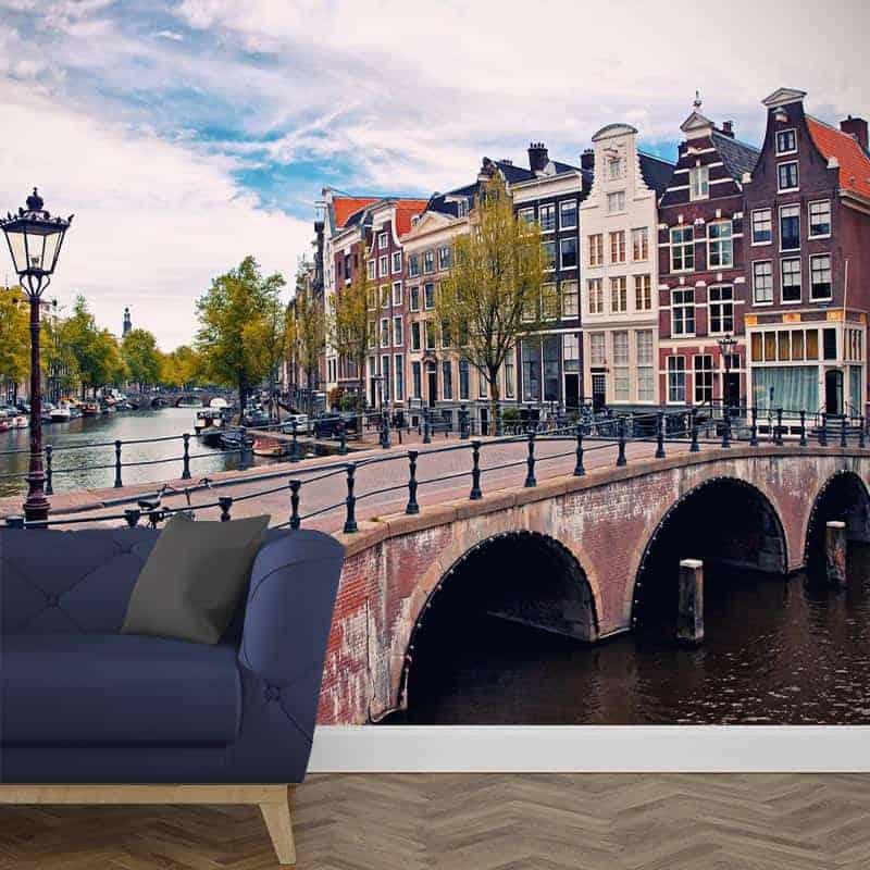 Fotobehang Amsterdamse grachten 1
