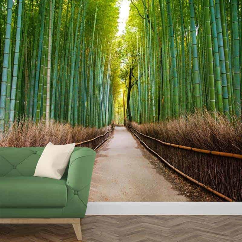 Fotobehang bamboe bos 1
