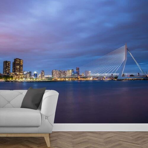 Fotobehang Skyline Rotterdam