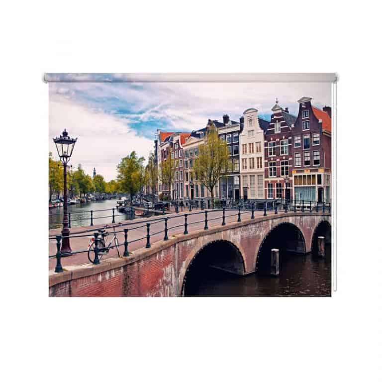 Rolgordijn Amsterdamse grachten