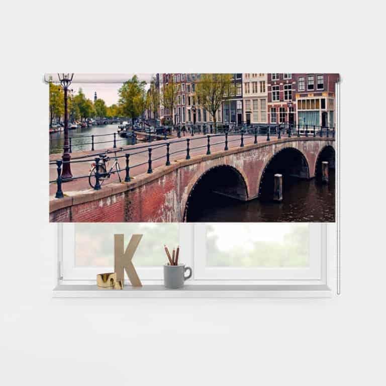 Rolgordijn Amsterdamse grachten 1