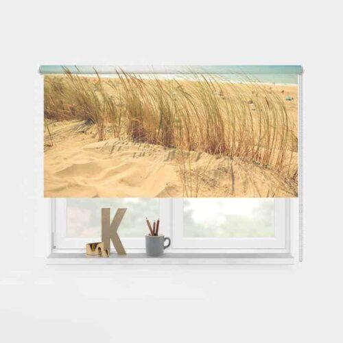 Rolgordijn in de duinen