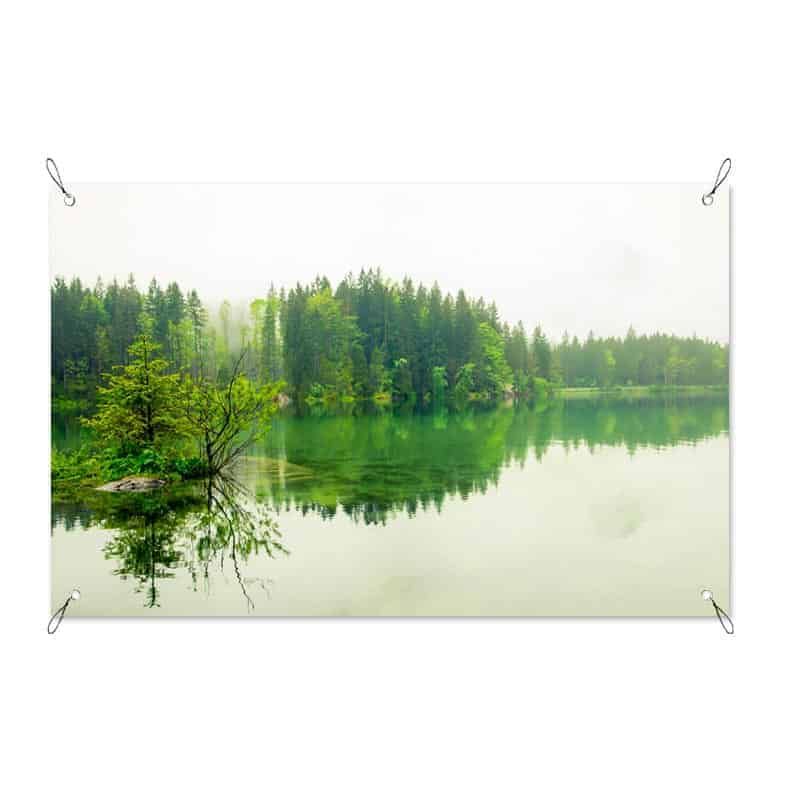 Tuinposter green lake