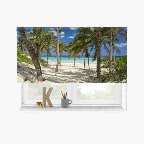 Rolgordijn Tropisch strand