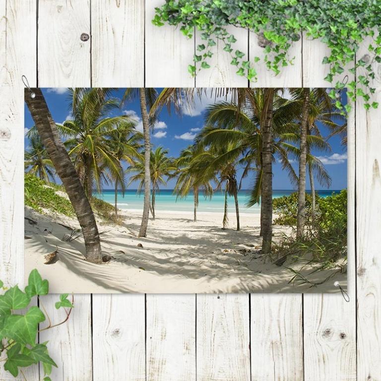 Tuinposter Tropisch strand