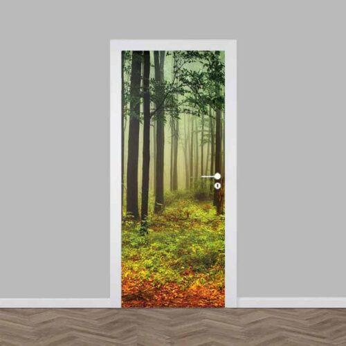 deursticker Bos in de herfst