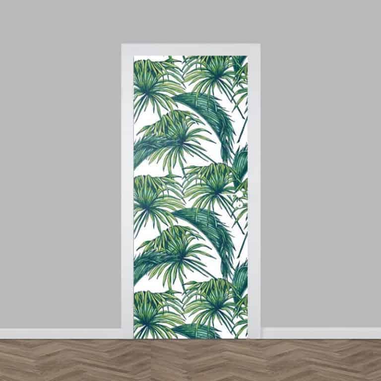 Deursticker tropische bladeren