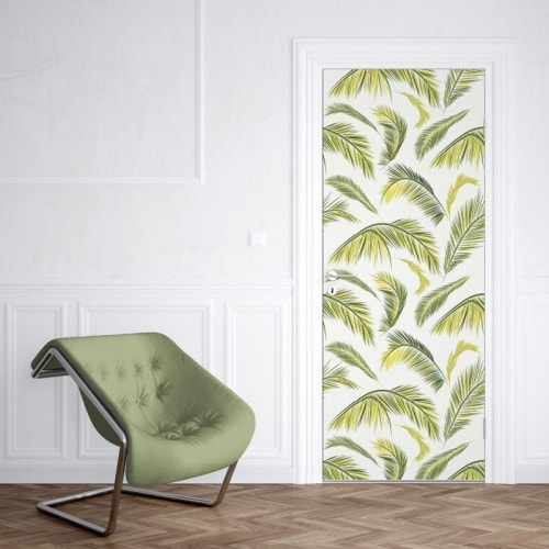 Deursticker palmbladeren 1