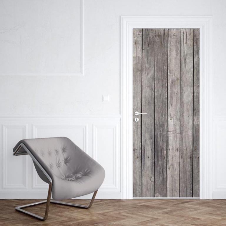 Deursticker oude houten planken 1