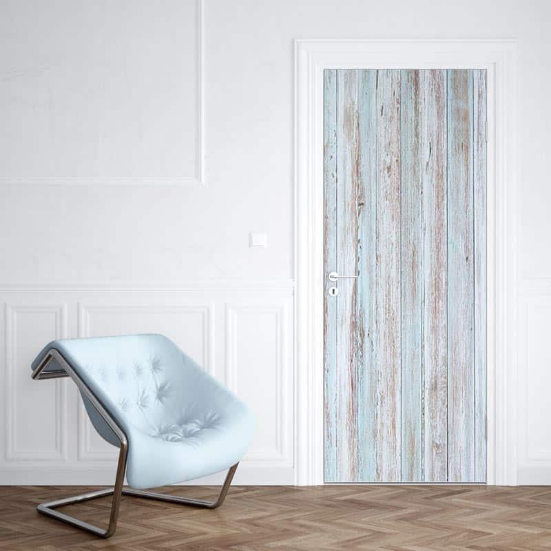Deursticker steigerhout blauw 1