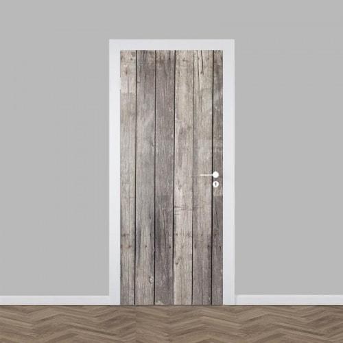 Deursticker oude houten planken