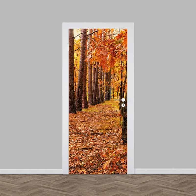 Deursticker gevallen bladeren een snelle deur 39 make over 39 - Coulissan deur je dressing bladeren ...