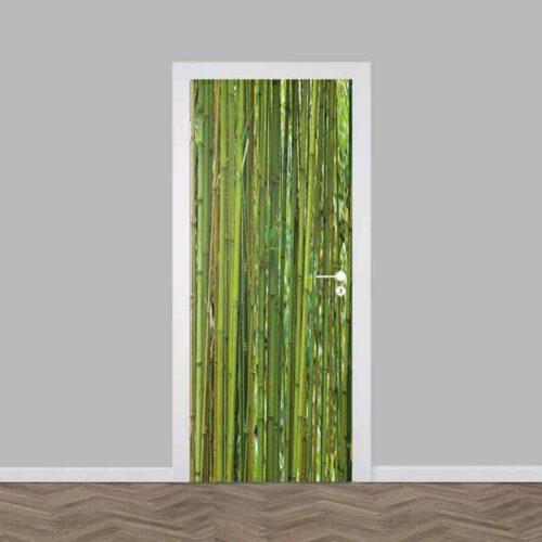 Deursticker groene bamboe
