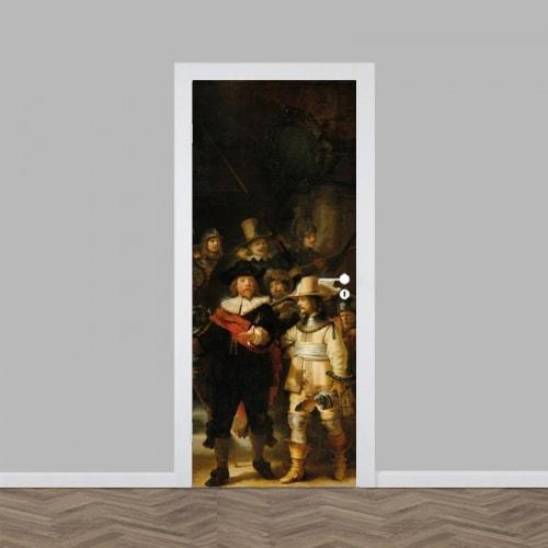 deursticker nachtwacht