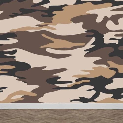 Fotobehang bruine legerprint