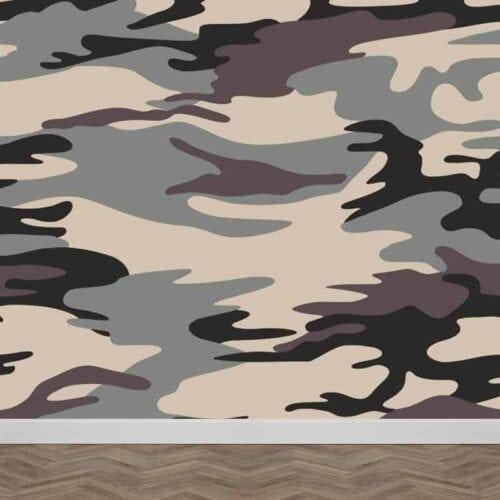 Fotobehang grijze legerprint