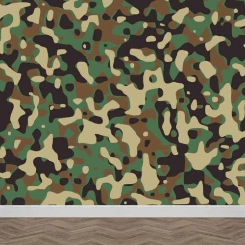 Fotobehang legerprint