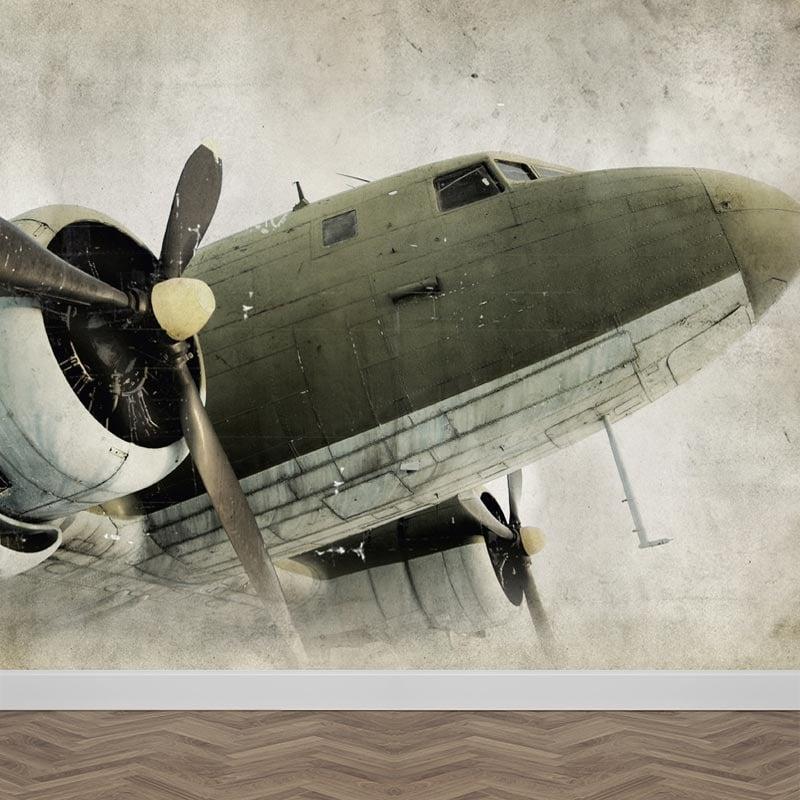 Fotobehang propeller vliegtuig