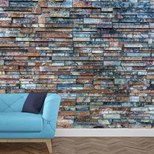 Fotobehang stenen muur patroon