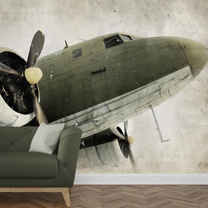 Fotobehang propeller vliegtuig 1