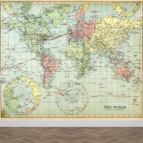 Fotobehang wereldkaart antiek