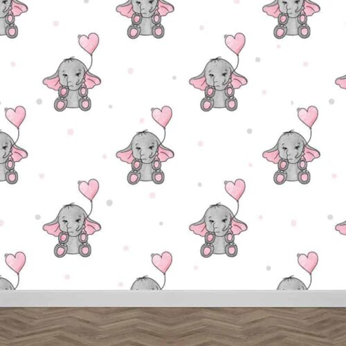Fotobehang olifantjes patroon