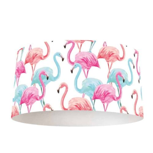 Lampenkap tropische flamingo patroon