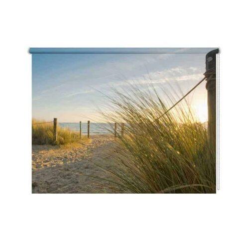 Rolgordijn strandovergang