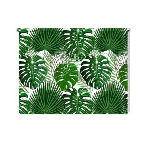 Rolgordijn Palmbladeren-patroon-2
