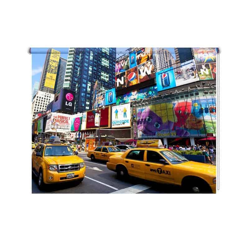 Rolgordijn New York yellow cab