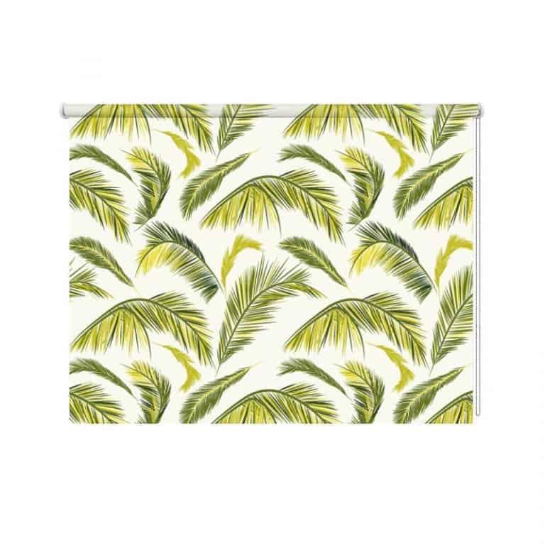rolgordijn Palmbladeren