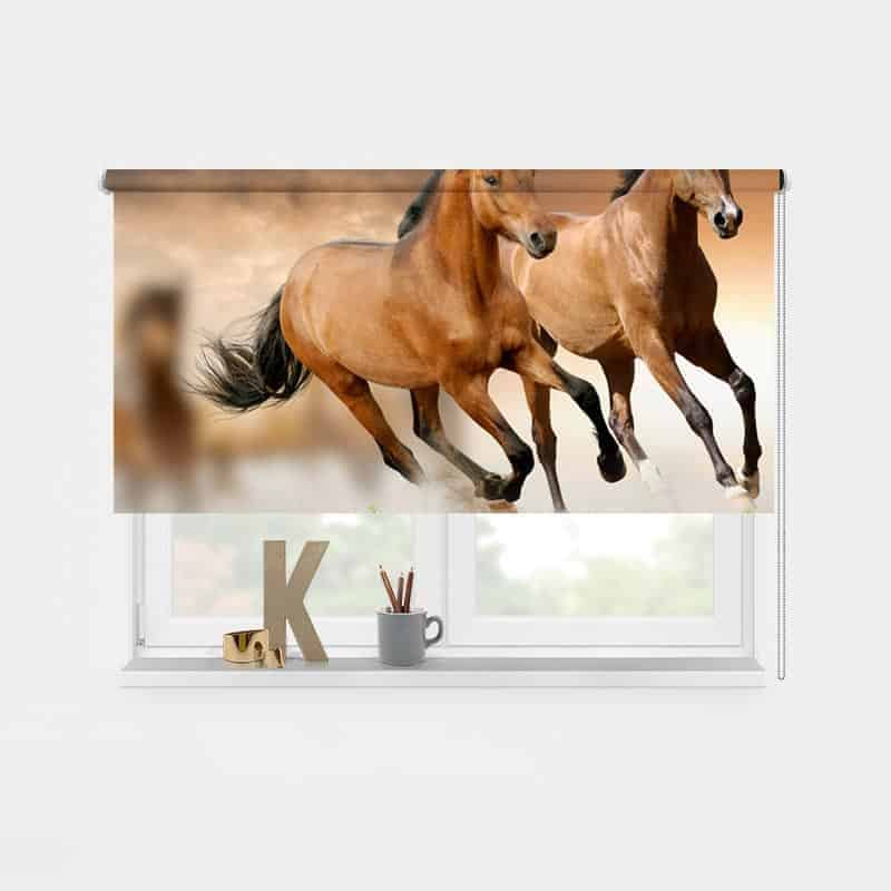 Rolgordijn paarden 1