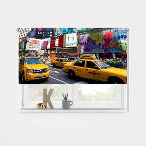 Rolgordijn New York yellow cab 1