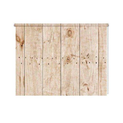 Rolgordijn vuren houten planken