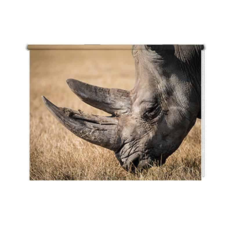 Rolgordijn neushoorn
