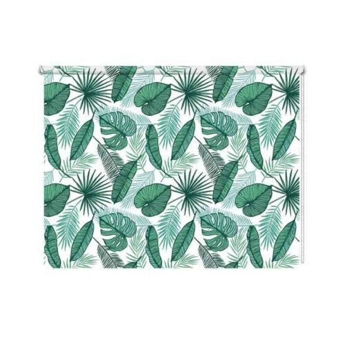Rolgordijn tropische bladeren patroon