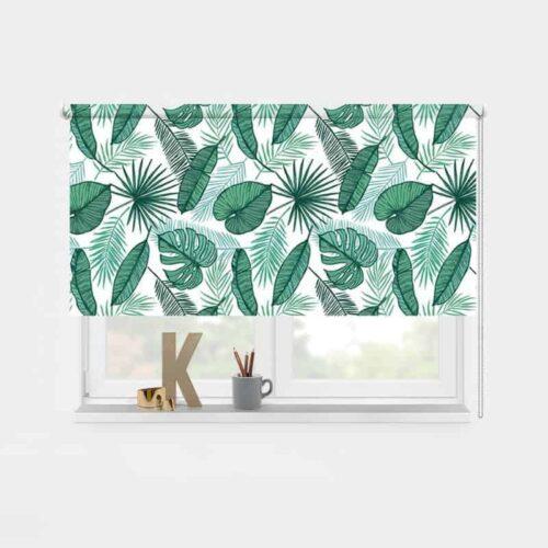 Rolgordijn tropische bladeren patroon 1