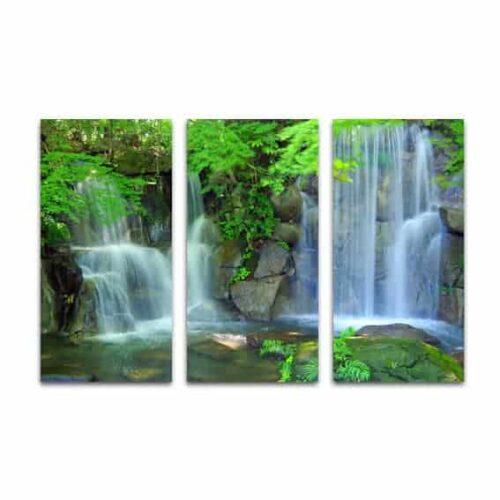Drieluik canvas natuurlijke waterval