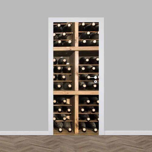 Deursticker lavendelveld een 39 make over 39 voor je deur - Coulissan deur je dressing bladeren ...