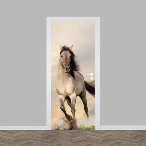 deursticker rennend paard