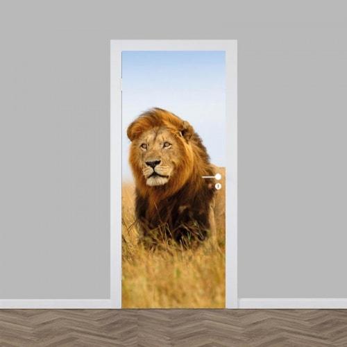 Deursticker Leeuw in Afrika