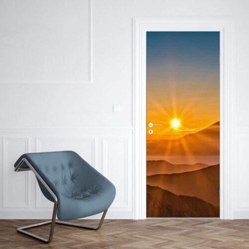 Deursticker Spectaculaire zonsondergang